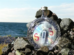 Contemporary message in a bottle including redundancy